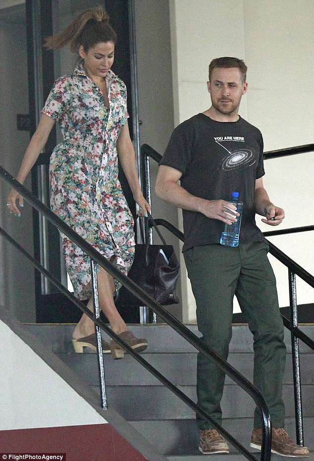 Eva Mendes And Beau Ryan Gosling Seen Out In LA Without