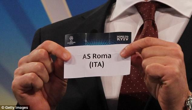 Seconds later, he pulled out Italian side Roma as Liverpool's semi-final opponents