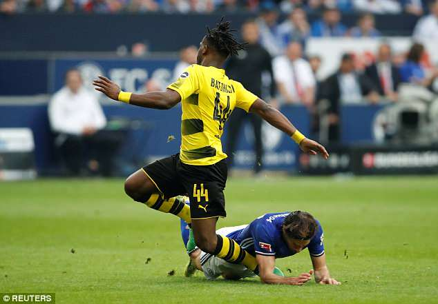 Batshuayi sustained the injury after a challenge by former Spurs player Benjamin Stambouli