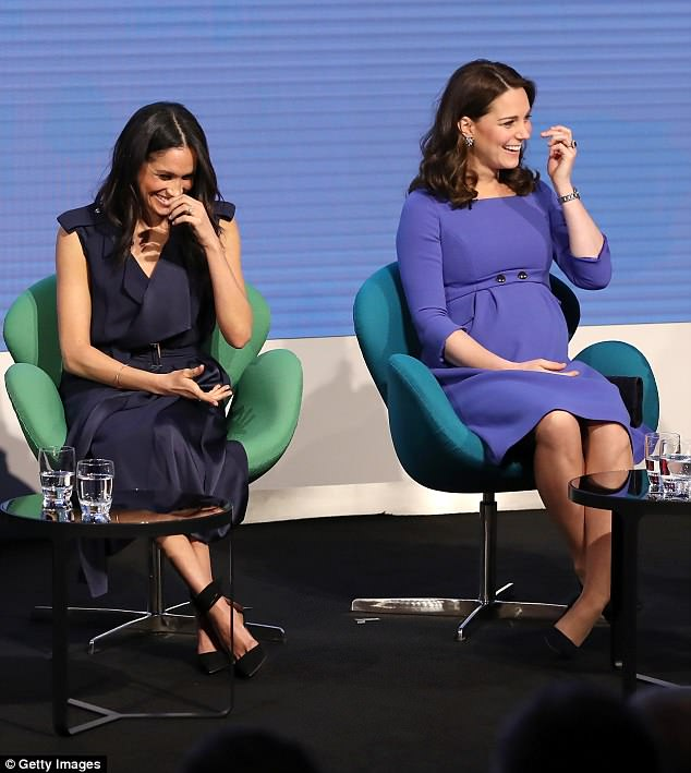 Myka coined sitting with your legs uncrossed in a chair as The Duchess Slant after studying photographs of Kate Middleton (pictured right)