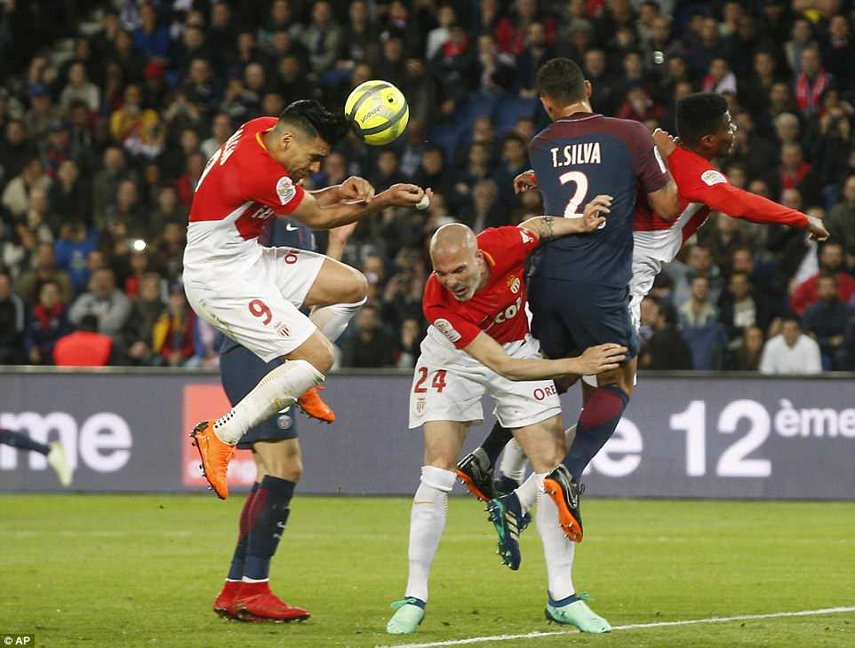 Monaco forward Radamel Falcao scored an own goal in the second half to further compound his side's misery