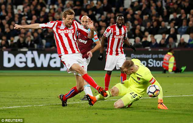 Peter Crouch scored with 11 minutes remaining for relegation threatened Stoke City