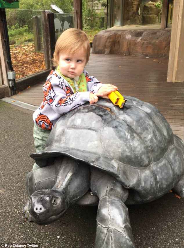'Sweet boy': The actor and comedian shared a snap of his little boy, Henry, who died in January following a battle with a brain tumour, with his Twitter followers