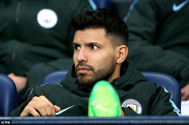 Aguero has watched from the sidelines as City wrapped up his third title at the club
