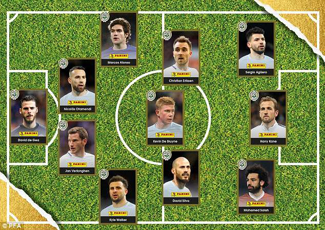 Manchester City dominate the PFA  Team of the Year, with five players featuring in this line-up