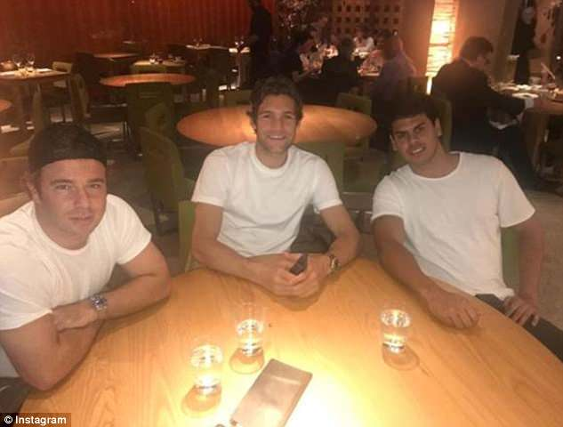 Chelsea left back Marcos Alonso was all smiles atZuma in Kensington on Thursday