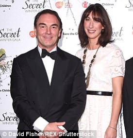 Sir Alan Parker, pictured here with Samantha Cameron, is a well-connected PR mogul