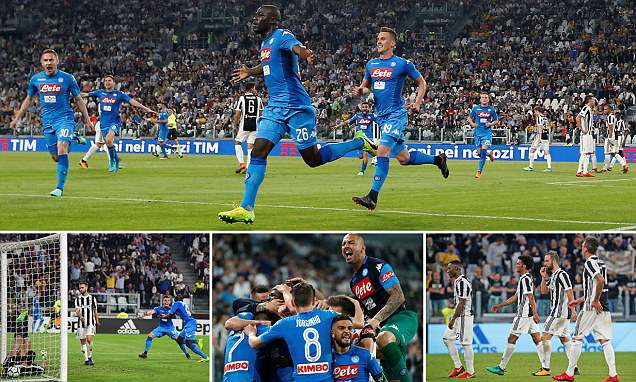 Juventus 0-1 Napoli: Maurizio Sarri's side close gap in Serie A title race