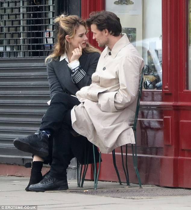 Sweet:Lily James and Matt Smith looked very much in the throes of love as they enjoyed a low-key stroll in London's Primrose Hill district last week