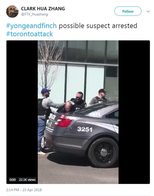 El conductor responsable del incidente fue arrestado a unas pocas cuadras después del accidente