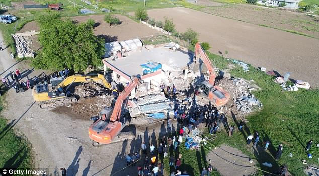 Casualties: Some 13 people were injured when the earthquake struck in the early hours