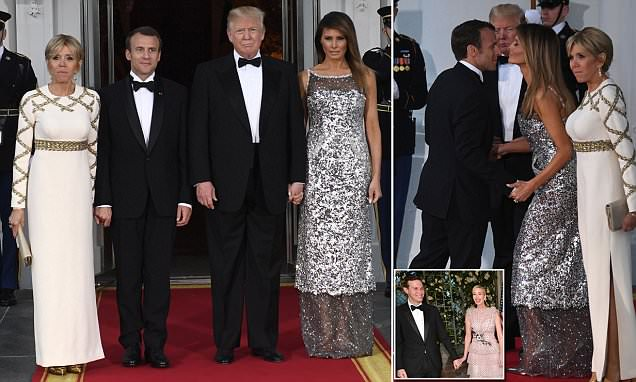 Image Result For Trump State Dinner President And Melania Host Macron At White House Us News