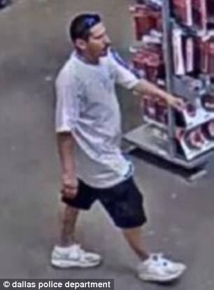 Juarez seen on surveillance camera footage from the Home Depot
