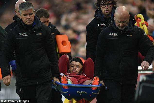 Liverpool midfielder Alex Oxlade-Chamberlain has been ruled out for the rest of the season