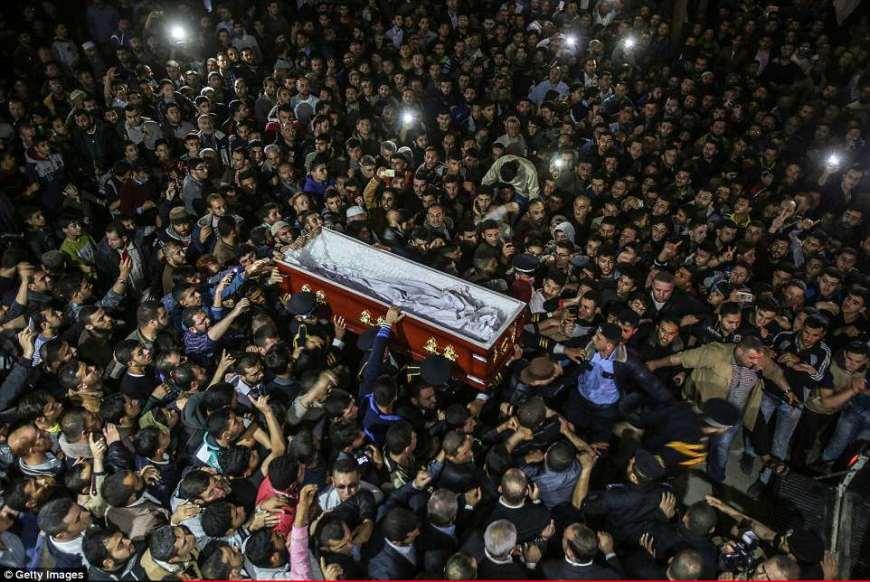 The remains of the Syaheed Dr. Fadi Muhammad al Batsh at Gaza
