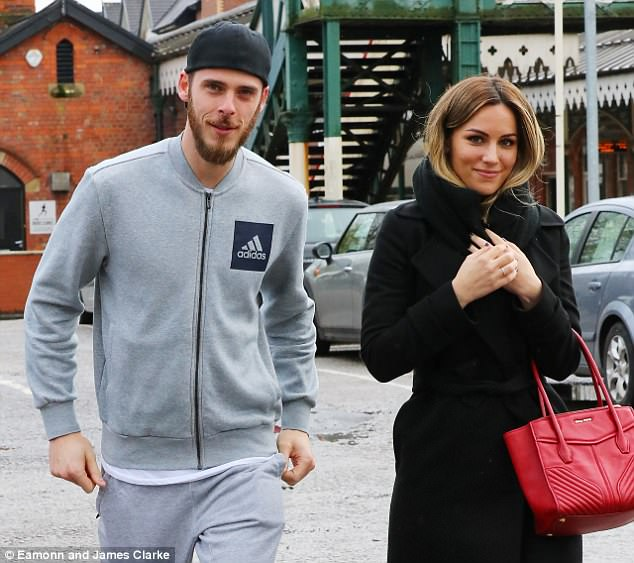 De Gea looked happy and relaxed ahead of United's Premier League clash with Arsenal