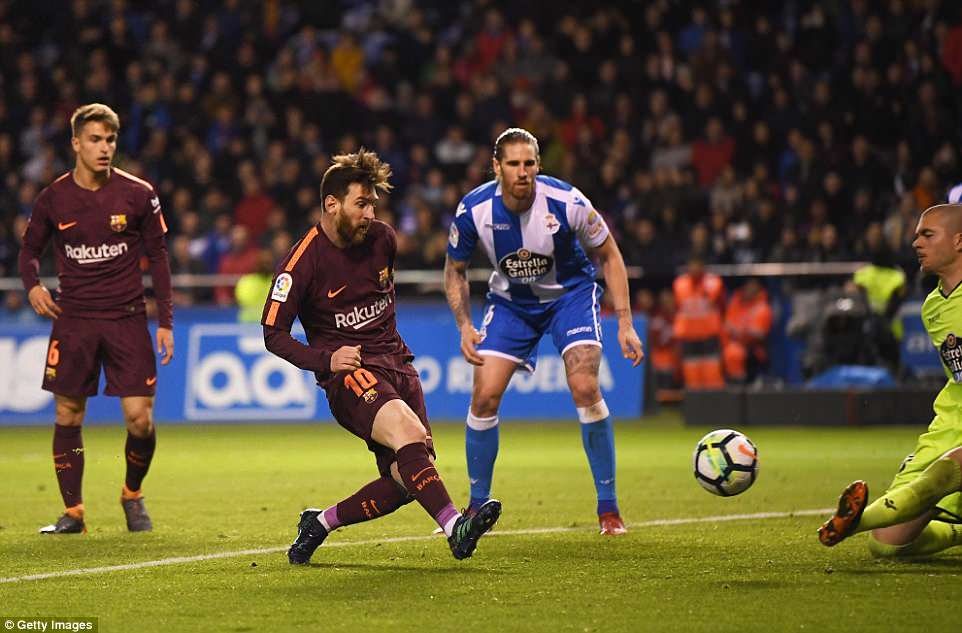 But Messi combined with Luis Suarez late on to put Barca back in front before adding another one to round-off his hat-trick