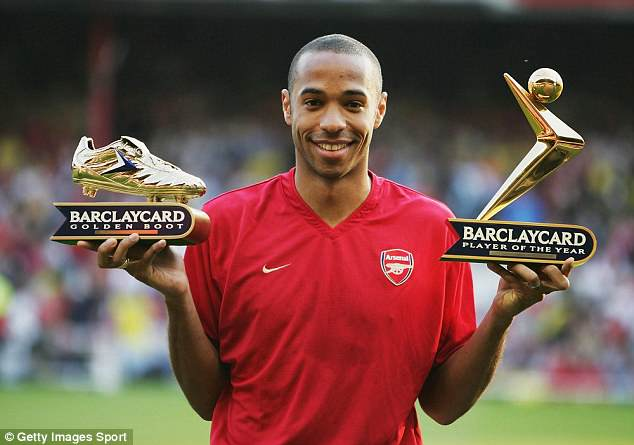 Thierry Henry, regarded as one of the league's best-ever strikers, notched 30 goals that year