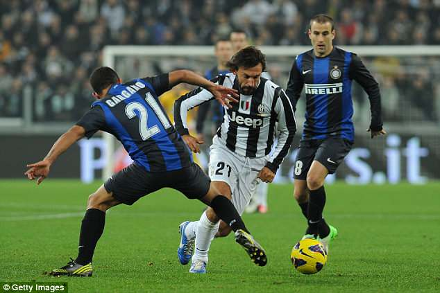 The guile of Andrea Pirlo was one of the main attacking outlets going forward