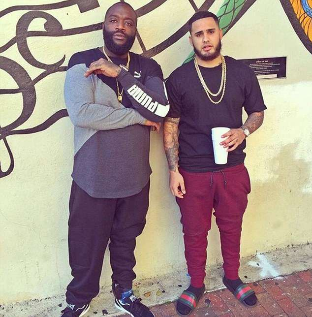 Yanez, right, Instagram shows him posing for pictures with rapper Rick Ross, left