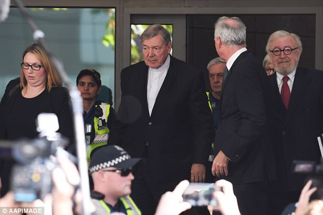 Among the charges thrown out was an allegation Pell (pictured) abused a complainant during a screening of the film Close Encounters of a Third Kind at a country Victorian cinema