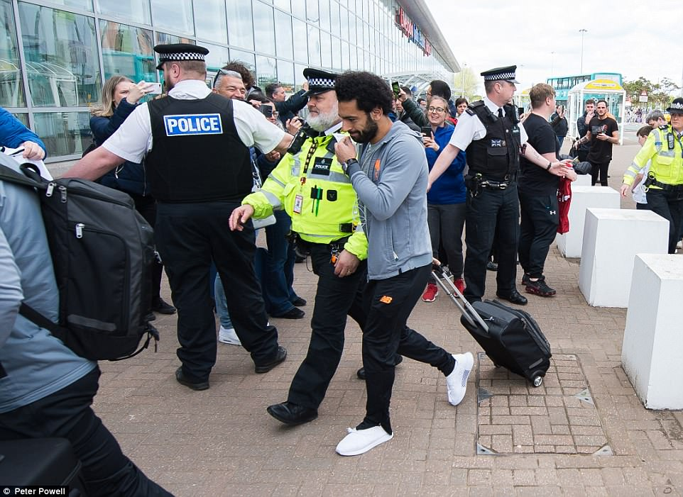 Liverpool superstar Mohamed Salah arrived at John Lennon Airport on Tuesday afternoon as the team prepare to fly