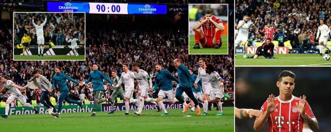 Real Madrid 2-2 Bayern Munich (agg 4-3): Karim Benzema nets brace