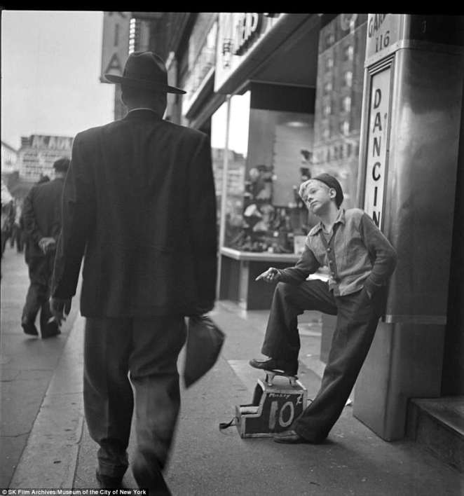 Kubrick's Shoeshine Boy as captured in 1947 will be on display as part of the Through a Different Lens Stanley Kubrick Photographs exhibit