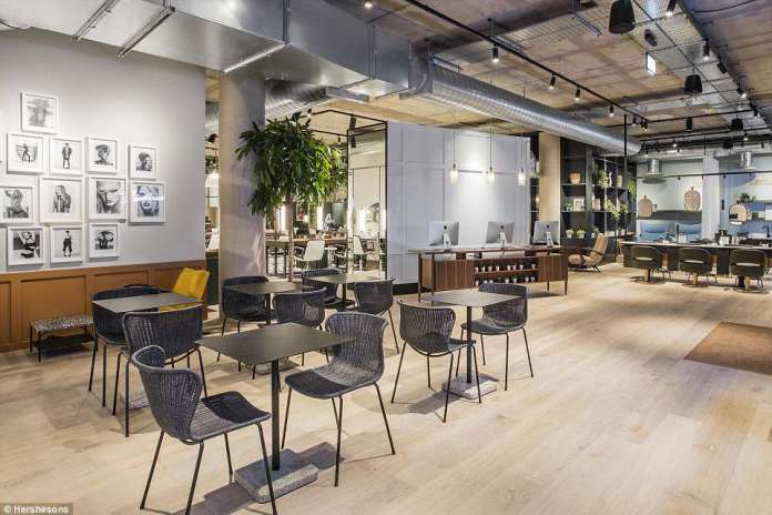 The social and work space at Hershesons, one of a number of brands that have come up with a genius solution in the form of sprawling warehouses boasting a myriad of wellness, pampering and surgery services