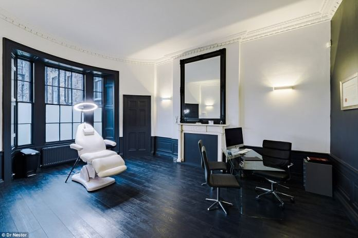 Beauty wonderland: With Dr Nestor offering 'tightening and brightening from top to toe', along with full medical check-ups, clients are also able to make last-minute appointments with in-house GB Dr Jane Sweeney (£125 for 30 minutes)