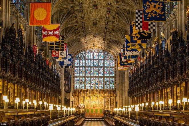 The Quire in St George's Chapel at Windsor Castle, Berkshire, where the royal wedding will be held on May 19