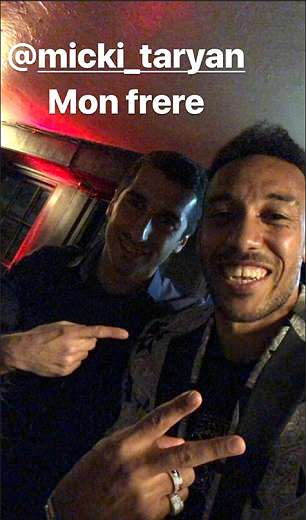 Henrikh Mkhitaryan and Pierre-Emerick Aubameyang toasted the win over Burnley on Sunday