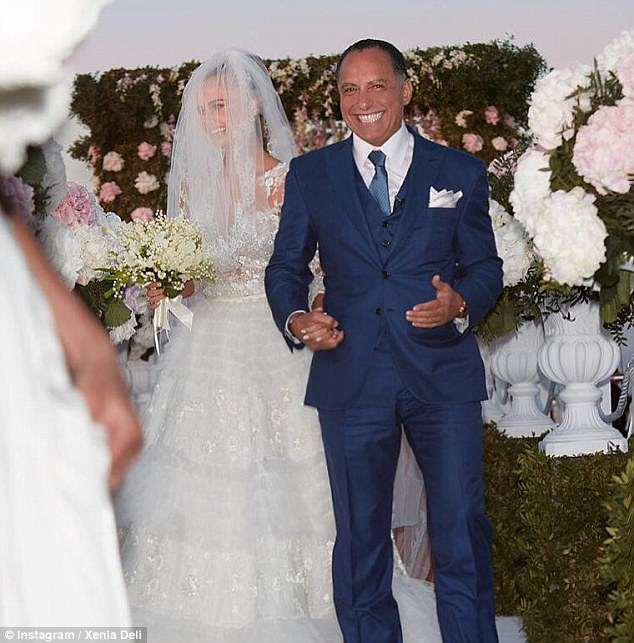 Deli married Ossama Fathi Rabah Al-Sharif, 65, on the popular Greek holiday island of Santorini in June 2016 in a clifftop ceremony costing £860,000