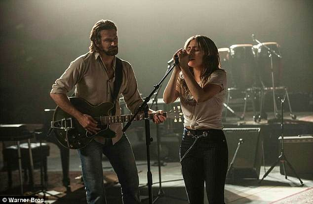 Sober since 2004: Bradley will next star as alcoholic country crooner Jackson Maine opposite Lady Gaga (R) in his directorial debut A Star is Born, which hits US/UK theaters October 5