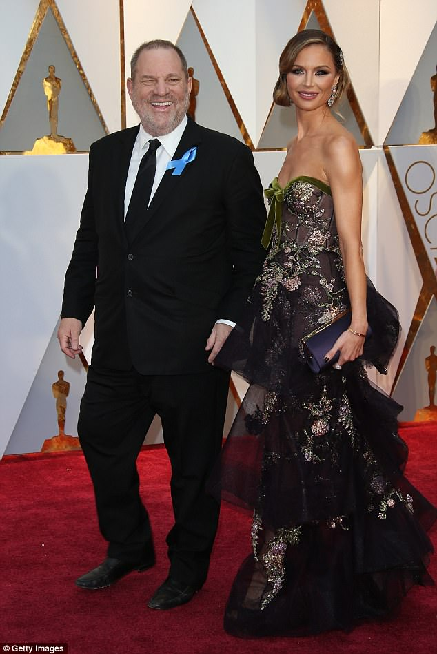 The suit comes days after it was revealed that a Manhattan grand jury is reportedly considering sexual assault charges against Weinstein (pictured with  Georgina Chapman)