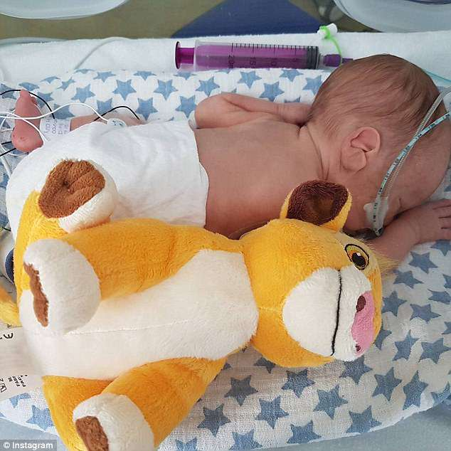 She was told her son, Leo, had a one per cent chance of survival when her waters broke at just 18 weeks. After being born weighing 1lb 10oz, the infant was kept in hospital for three months