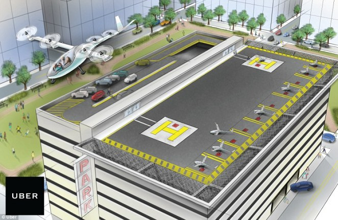 The plan will rely on a network of 'Skyports,' which will allow the VTOL Uber Air craft to take off and land on rooftops across the country
