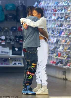 Kylie Jenner and Travis Scott Shoe Shopping in California