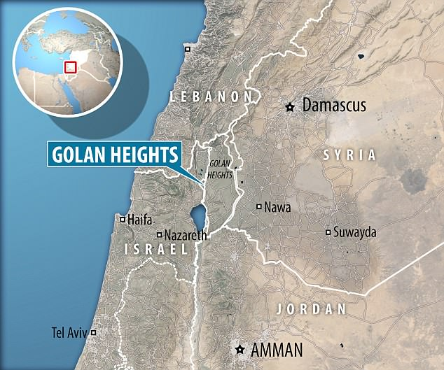Iranian forces fired 20 rockets from Syria at Israeli front-line military positions in the Golan Heights early on Thursday, the Israeli military said