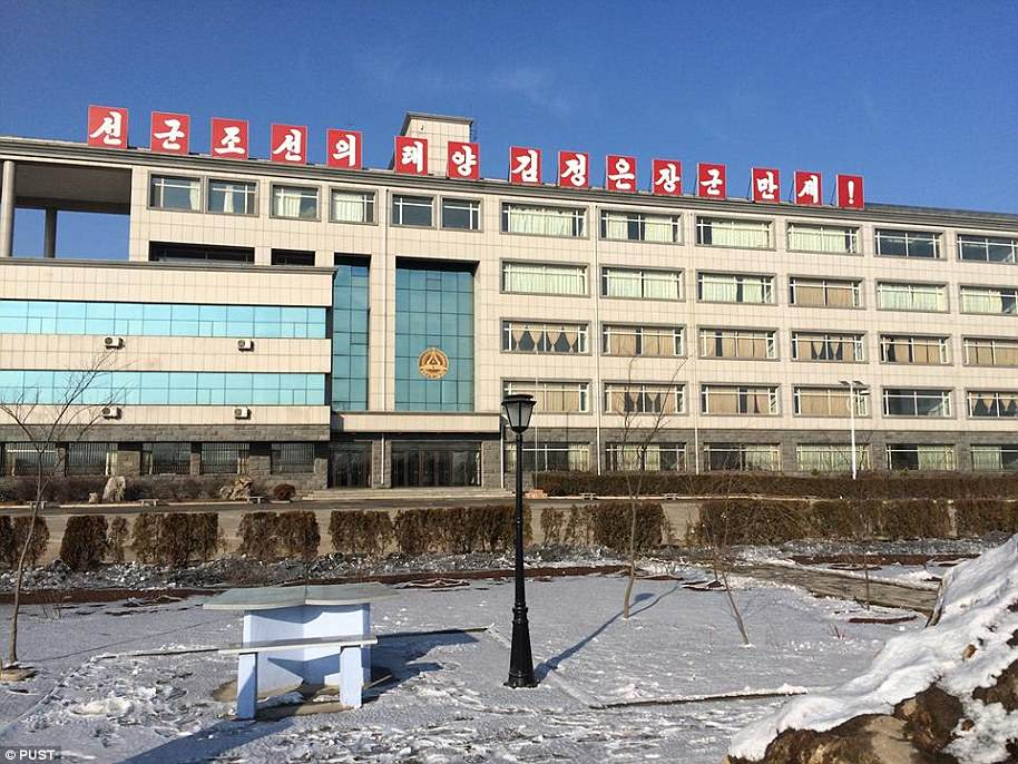 The Pyongyang University of Science and Technology (PUST) was set up by James Kim, a wealthy evangelical Korean-American the North once detained on suspicion of being a U.S. spy. Pictured: The snow-covered campus