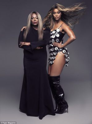 Duo: Tyra Banks, 44, and her 72-year-old mother Carolyn London posed together for Paper magazine this month