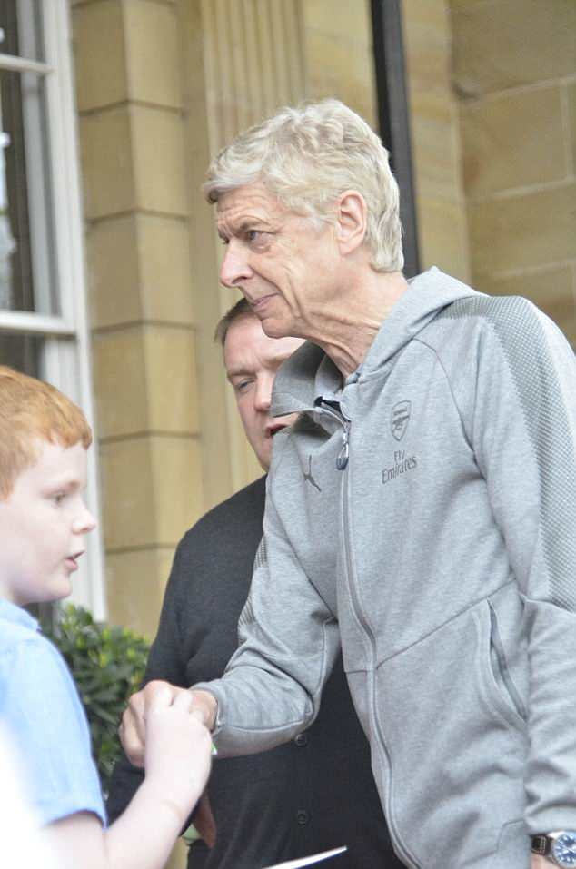 The Frenchman received a warm welcome from fans at the team hotel near Leeds