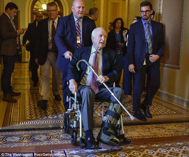 McCain also roused Trump's ire with a last-minute vote that sank a Republican-led effort to repeal Obamacare
