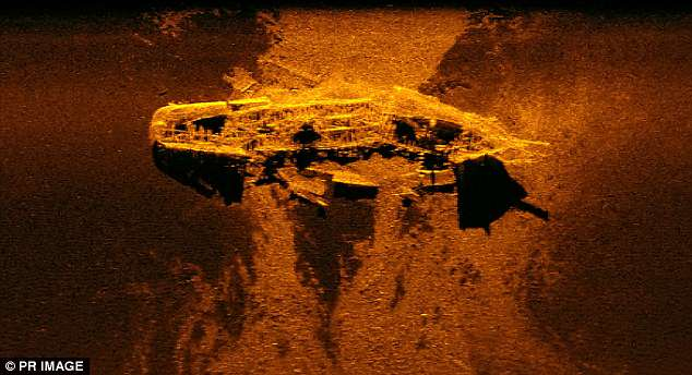 Authorities combing through the Indian Ocean for remains of missing Malaysia Airlines flight MH370 have discovered two huge structures (pictured) on the sea floor