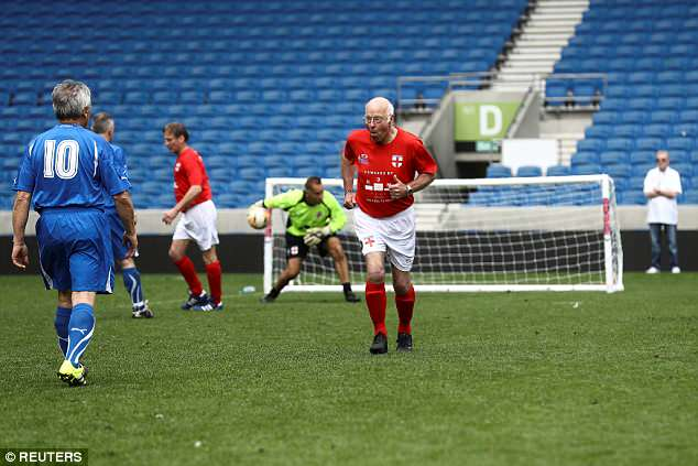 Tommy Charlton had a shot tipped on to the post during the match, which sees to teams of six face off against each other