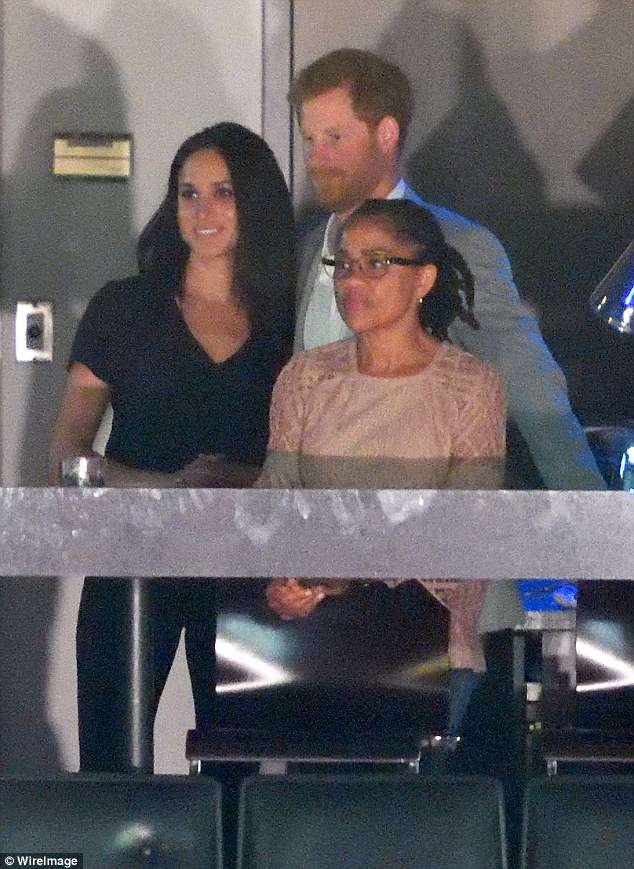 Meghan wore a peach Burberry top in October while attending the closing ceremony of the Invictus Games with Meghan and her soon-to-be husband Prince Harry