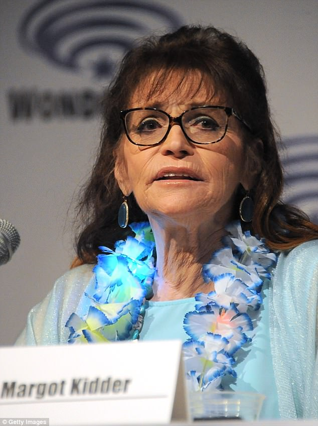 Margot Kidder was found unresponsive on her couch by a friend on Sunday who had stopped by her house in Montana to help with cleaning, it has been reported. The actress is seen above in Anaheim in 2015