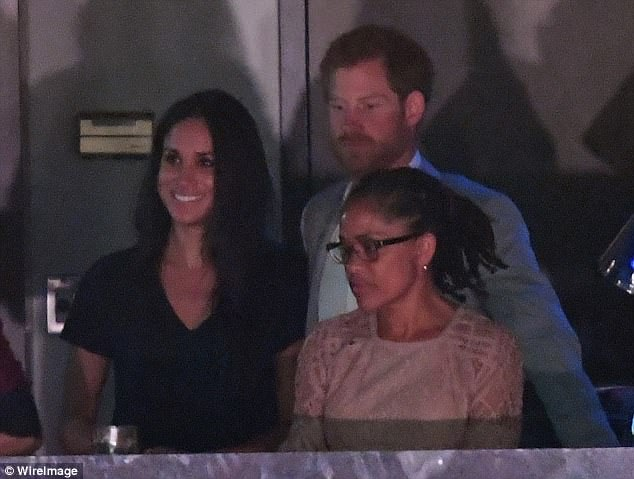 Meghan will now be accompanied by only mother at the wedding (Doria Ragland with Prince Harry and Meghan in September)