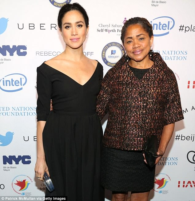 Before changing his mind, Mr Markle said he believed his ex-wife Doria Ragland would be a 'good choice' to give their daughter away at St George's Chapel, Windsor. Pictured:Doria pictured with her daughter in March 2015