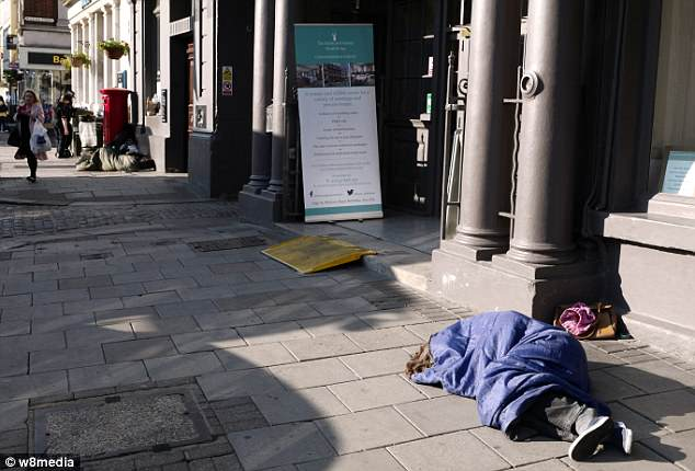 Also spotted on the streets of Windsor are a number of rough sleepers Four months ago council leader Simon Dudley demanded police use legal powers to remove them before the wedding.
